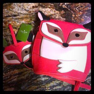 New w/tags Kate spade fox crossbody & luggage tag